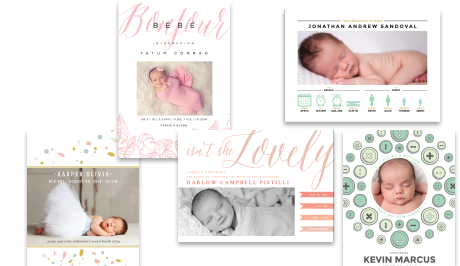 Invitations header baby announcements