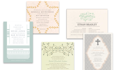 Invitations header reigious occassions