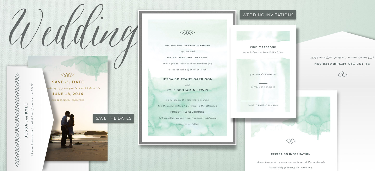 Shop Wedding Invitations and Save the Dates