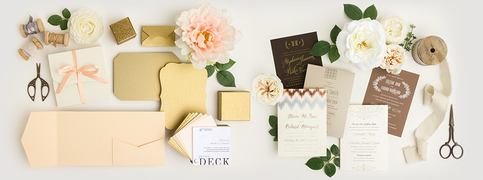 Envelopments Wedding Invitations - Blank Product to Invite - Digital Printing, Letterpress, Foil, Thermography